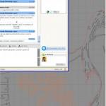Svatební logo retušování kontury postavy na počítači