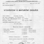 PRIMAK Slavomir - maturitní vystědčení