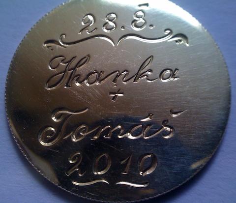 Exklusivní svatební dáreček Zlatá mince