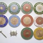 VOPŠ Odznak Policejní BARVY SMALT prototyp vyznamenání -6-