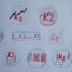 Školní odznáček Logo K2 návrh