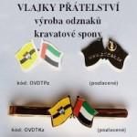 Výroba odznaků Státní vlajky přátelství - Odznáčky - Kravatové spony - Manžetové knoflíčky
