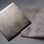 Žatec Řád 7 Materiál pro ražbu Stříbro Ag 925 plech 3mm