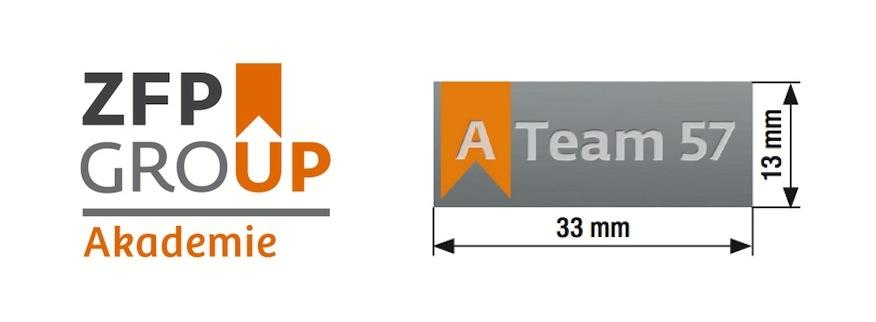 Logo odznáček A Team 57 Výroba odznaku Ateam57