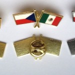 Výroba odznaků - Státní vlajky přátelství - tištěné odznáčky - obdelníky