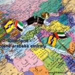 Odznaky vlajky přátelství. Libeland + Spojené arabské emiráty