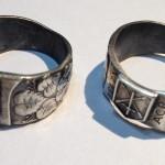 Vojenské prsten Aktivních záloh. Menší prsten záložáka s rytinou AČR, AZ 131