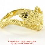Dámský prsten kobra 2 prstýnek s kobrou Had pro slečnu