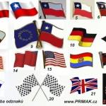 Výroba odznaků Státní vlajky přátelství - Tvary