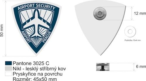Odznak Airport security - puvodní návrh 2015