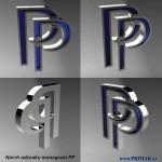Výroba odznak monogram PP