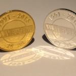 Výroba mincí Pamětní zlatá mince s logem Wachal
