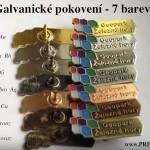 Výroba odznaků - GALVANICKÉ POKOVENÍ - barvy kovů - 7 barev