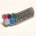 Podnikový odznak Odznáček Geopark – 2 – Ražený malovaný