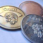 Výroba pamětní mediale LEV logo ČKAIT mince