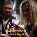 VIDEO návštěva, exkurze starožitnosti - Monika Star + Slávek v obchodě se starožitnostmi