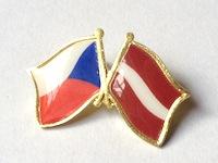 5a60ab71f Odznak Státní vlajky přátelství – ČR+AT – ČESKO – RAKOUSKO – ražba+tisk