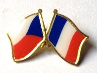 9fe301f90 Odznak Státní vlajky přátelství – ČR+FR – ČESKO – FRANCIE – ražba+tisk