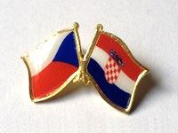 460fadfd3 Odznak Státní vlajky přátelství – ČR+HR – ČESKO – CHORVATSKO – ražba+tisk