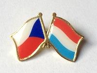 91e2a8273 Odznak Státní vlajky přátelství – ČR+LU – ČESKO – LUCEMBURSKO – ražba+tisk