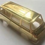 Výroba modelu auta ŠKODA 1203 metalická zlatá barva zlacení karoserie pozlacení pravým zlatem