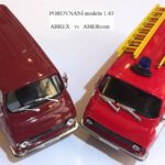 Škoda 1203 model 1:43 porovnání ABREX vs AMERcom