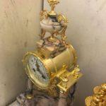 Zlacení starých starožitných hodin pozlacování a restaurování