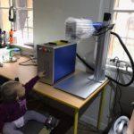Gravírovací LASER vláknový JPT 50W polo 3D do všech kovů - Fiber laser marking with autofocus