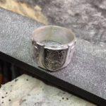 Výroba vojenského prstenu AZ - Český lev - Vojenský prsten
